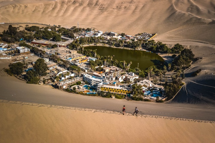 Aerial Photography, Desert, Huacachina, Ica, Peru, Sand dunes, South America, Travel