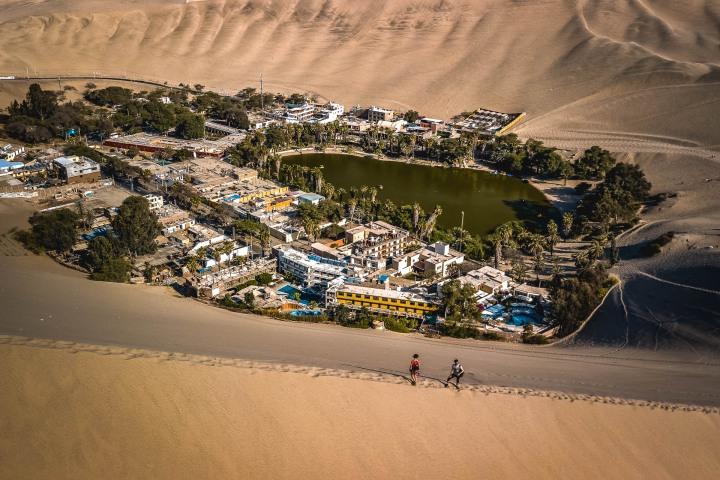 Aerial Photography, Desert, Huacachina, Ica, Peru, Sand dunes, South America, Travel