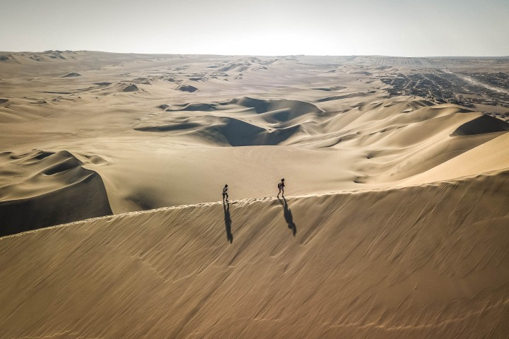 Aerial Photography, AGP Favorite, Desert, Huacachina, Ica, Peru, Sand dunes, South America, Travel