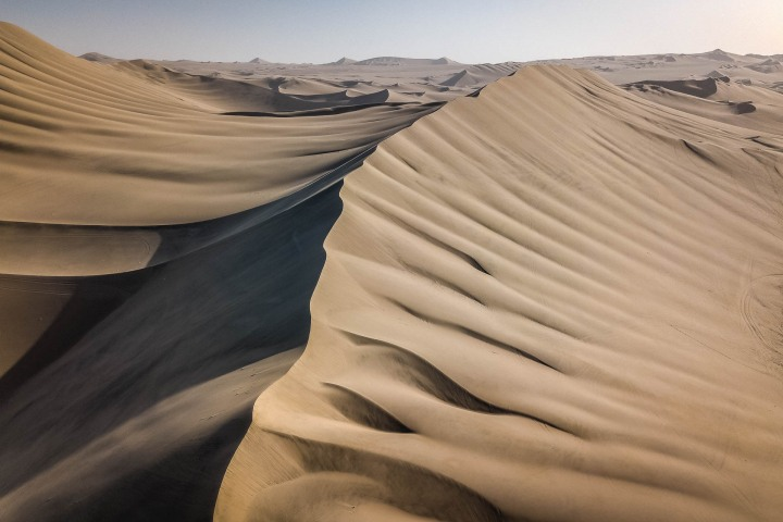 Aerial Photography, AGP Favorite, Desert, Huacachina, Ica, Peru, Sand dunes, South America, Travel
