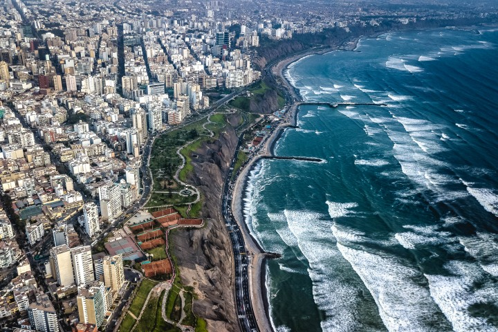 Aerial Photography, AGP Favorite, Lima, Miraflores, Peru, South America, Travel