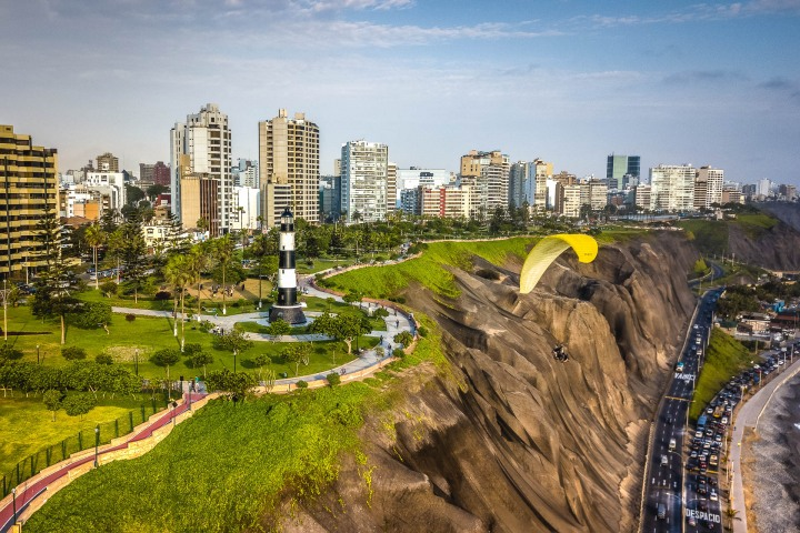 Aerial Photography, Lima, Miraflores, Peru, South America, Travel