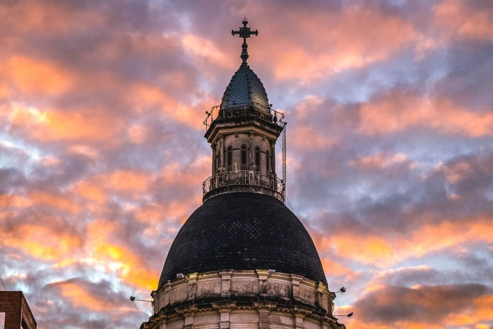 Argentina, Cathedral Basilica Shrine of Our Lady Del Rosario, Rosario, South America, Sunset, Travel