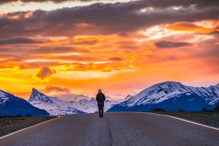 Chile, El Calafate, Patagonia, South America, Sunset, Travel