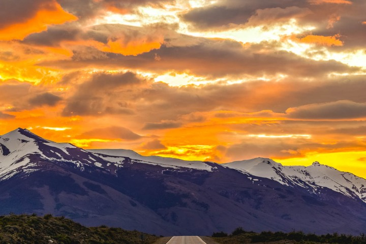 Chile, El Calafate, Patagonia, South America, Sunset, Travel