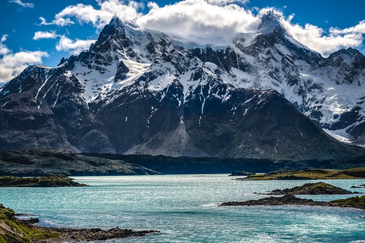 Cerro Paine Grande, Chile, Mountains, Patagonia, Snow Covered, South America, Torres del Paine, Travel