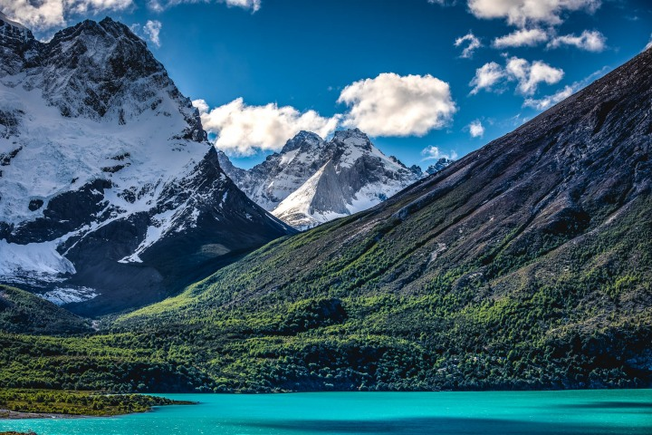 Chile, Mountains, Patagonia, Snow Covered, South America, Torres del Paine, Travel