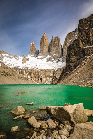 Chile, Mirador Base Las Torres, Patagonia, South America, Torres del Paine, Travel