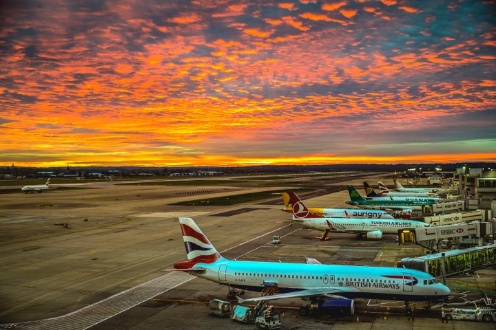 AGP Favorite, Airport, Europe, London, Sunset, Travel