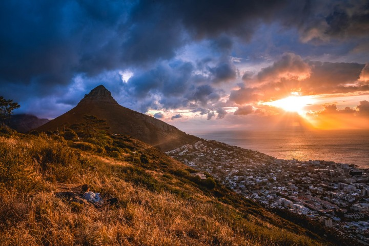 Africa, Cape Town, Lions Head, South Africa, Sunset, Travel