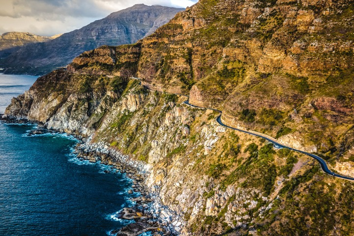 Aerial Photography, Africa, Cape Town, Chapmans Peak, Sea Cliffs, South Africa, Travel