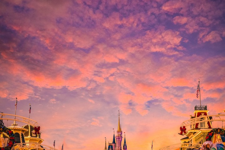 AGP Favorite, Disney, Florida, Magic Kingdom, North America, Orlando, Sunset, Travel, United States