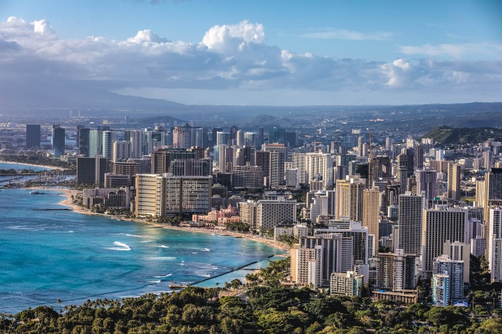 AGP Favorite, Downtown, Hawaii, Honolulu, North America, Skyline, Travel, United States