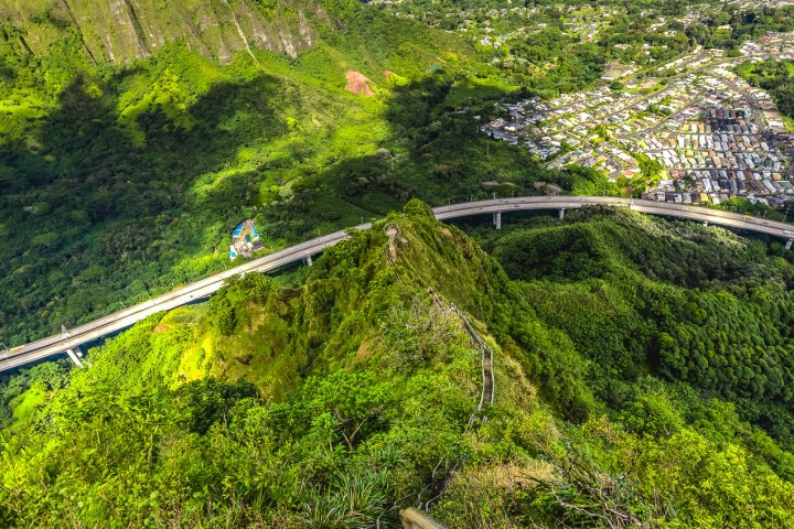 Hawaii, Honolulu, North America, Stairway to Heaven, Travel, United States