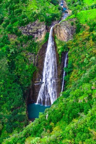 Aerial Photography, AGP Favorite, Hawaii, Kauaii, North America, Travel, United States, Waterfall
