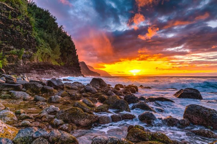 AGP Favorite, Hawaii, Kauaii, North America, Sea Cliff, Sunset, Travel, United States
