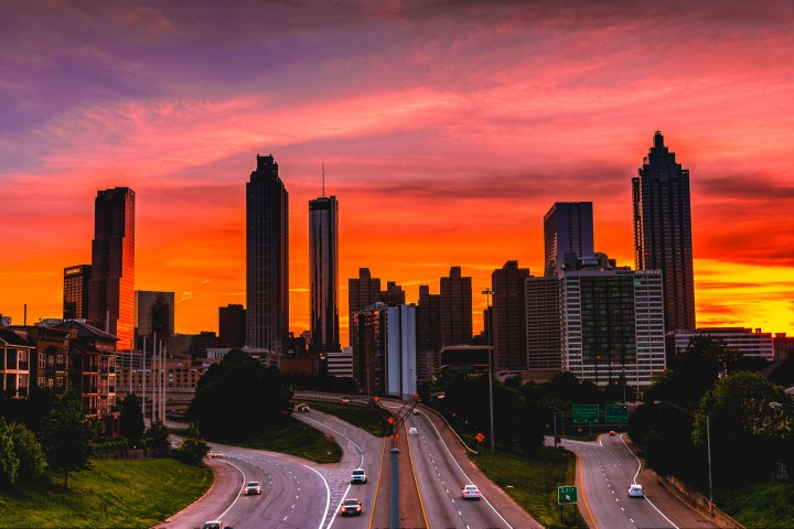AGP Favorite, Atlanta, Georgia, North America, Skyline, Sunset, Travel, United States