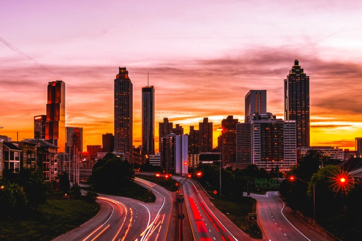 AGP Favorite, Atlanta, Georgia, Long Exposure, North America, Skyline, Sunset, Travel, United States
