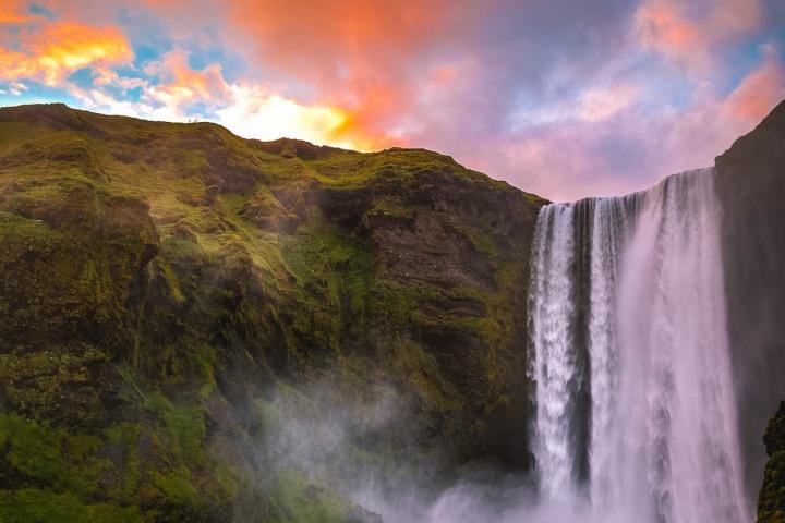 AGP Favorite, Europe, Iceland, Skógafoss, Sunset, Travel, Waterfall