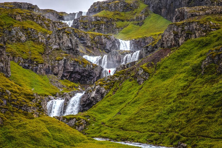 AGP Favorite, Europe, Iceland, Klifbrekkufossar, Travel, volcanic lava field, Waterfall