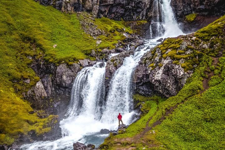 Europe, Iceland, Klifbrekkufossar, Travel, volcanic lava field, Waterfall