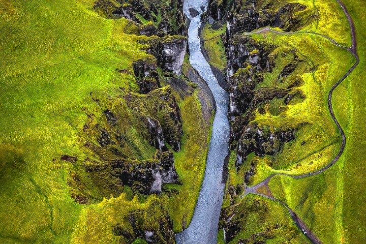 Aerial Photography, AGP Favorite, Europe, Fjaðrárgljúfur, Fjord, Iceland, Travel, volcanic lava field