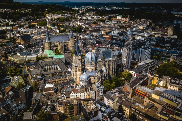 Aachen, Aerial Photography, Cathedral, Europe, Netherlands, Travel