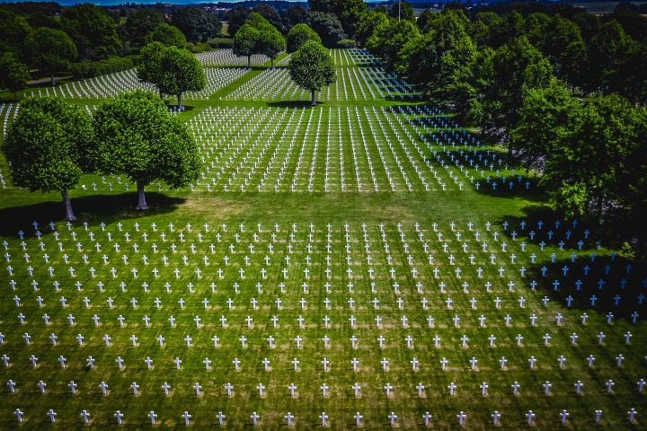 Aerial Photography, Europe, Military Cemetery, Netherlands, Travel
