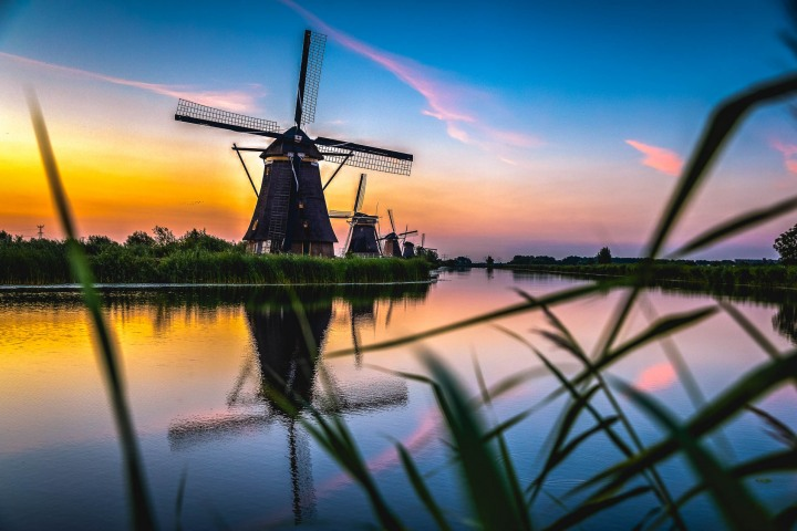 AGP Favorite, Europe, Kinderdijk, Netherlands, Sunrise, Travel, Windmills