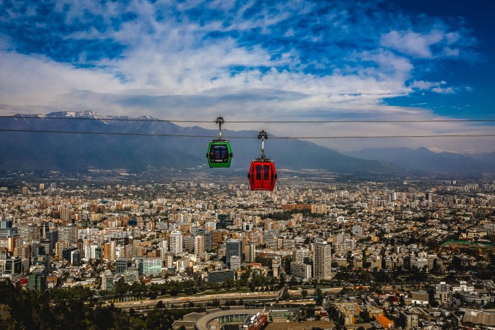 Aerial Photography, Chile, Santiago, Skyline, South America, Travel