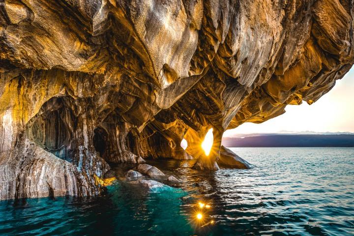 AGP Favorite, Catedral de Marmol, Chile, Marble Caves, Parque Nacional Laguna San Rafael, Patagonia, South America, Sunrise, Travel