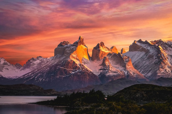 Chile, Mountains, Patagonia, South America, Sunrise, Torres del Paine, Travel
