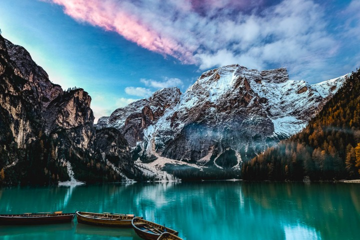 AGP Favorite, Dolomites, Europe, Italy, Lago di Braies, Reflections, Snow Covered, South Tyrol, Travel