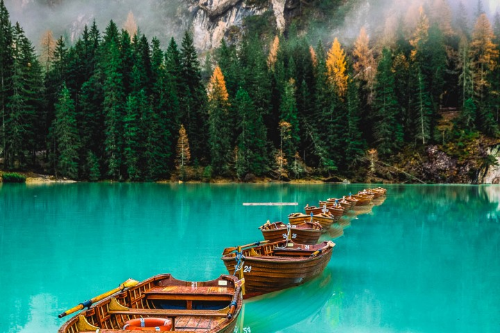 Dolomites, Europe, Italy, Lago di Braies, Reflections, South Tyrol, Travel