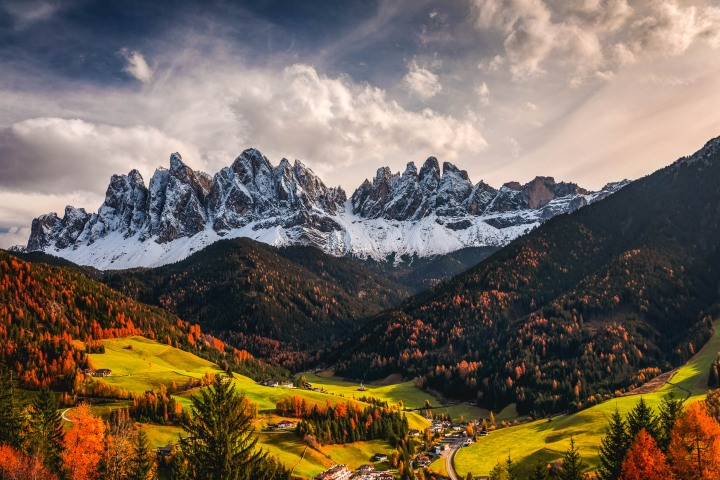 AGP Favorite, Autumn, Dolomites, Europe, Fall Colors, Furchetta, Italy, Mountains, Sass Rigais, Snow Covered, South Tyrol, St. Maddalena, Travel