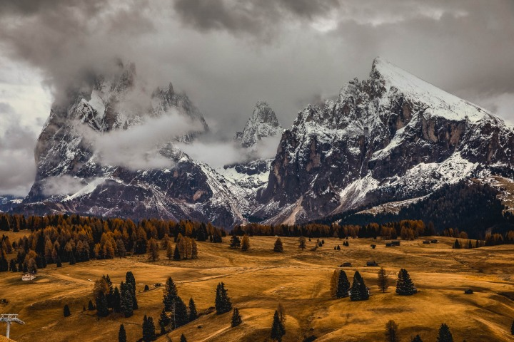 AGP Favorite, Autumn, Dolomites, Europe, Italy, Mountains, Plattkofel, Sassopiatto, Siusi, Snow Covered, South Tyrol, Travel