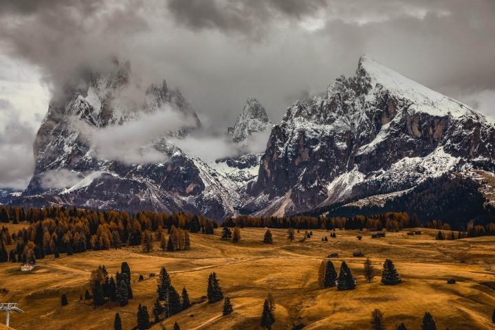 AGP Favorite, Autumn, Dolomites, Europe, Italy, Mountains, Plattkofel, Sassopiatto, Siusi, Snow Covered, South Tyrol, Travel