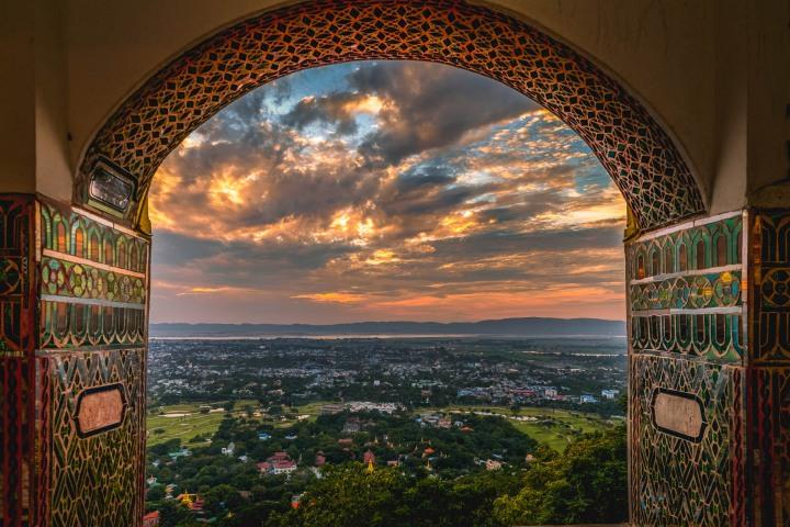 Asia, Burma, Mandalay, Mandalay Hill, Myanmar, Sunset, Travel