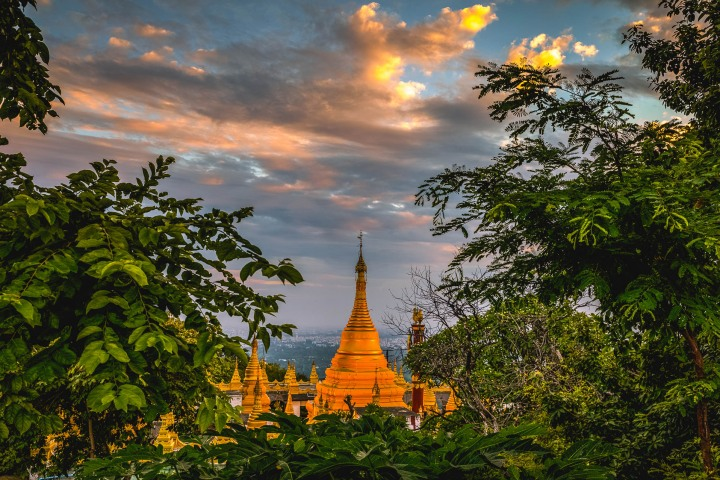 AGP Favorite, Asia, Burma, Mandalay, Mandalay Hill, Myanmar, Pagoda, Sunset, Temple, Travel