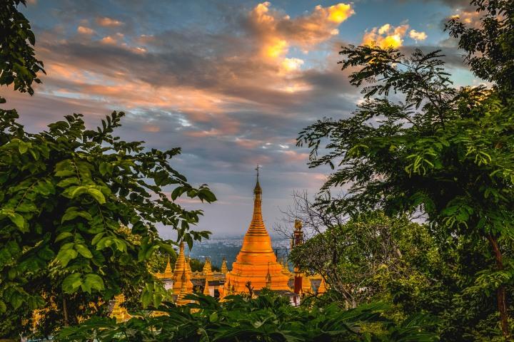 AGP Favorite, Asia, Burma, Mandalay, Mandalay Hill, Myanmar, Pagoda, Sunset, Temple, Travel