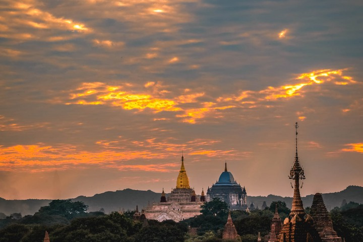 Ananda Temple, Asia, Bagan, Burma, Myanmar, Old Bagan, Pagoda, Sunset, Temple, Travel