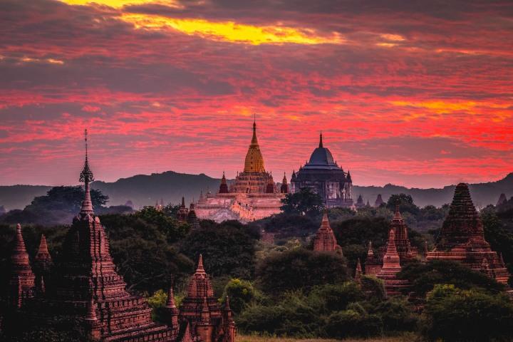 AGP Favorite, Ananda Temple, Asia, Bagan, Burma, Myanmar, Old Bagan, Pagoda, Sunset, Temple, Travel