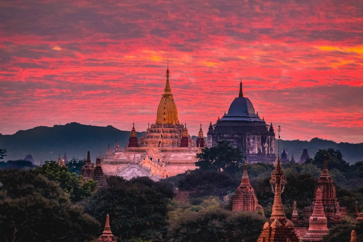 AGP Favorite, Ananda Temple, Asia, Bagan, Burma, Myanmar, Old Bagan, Pagoda, Sunset, Temple, Travel