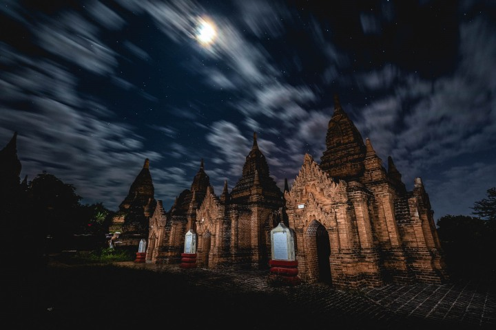 Asia, Bagan, Burma, Long Exposure, Myanmar, Old Bagan, Pagoda, Temple, Travel