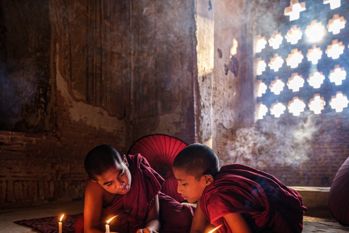 Monks in Bagan Temple