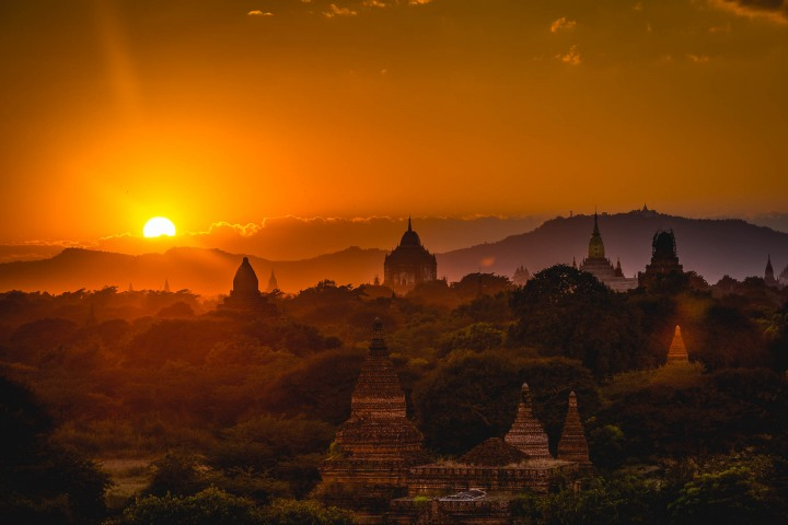 AGP Favorite, Asia, Bagan, Burma, Myanmar, Old Bagan, Pagoda, Sunset, Temple, Travel