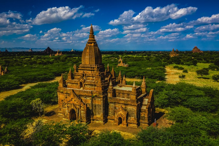 Aerial Photography, AGP Favorite, Asia, Bagan, Burma, Myanmar, Old Bagan, Pagoda, Temple, Travel