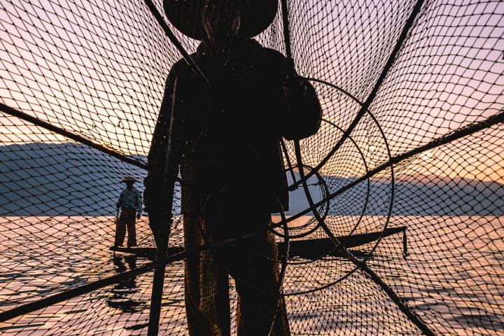 AGP Favorite, Asia, Burma, Burmese fishermen, Inle Lake, Myanmar, Sunrise, Travel