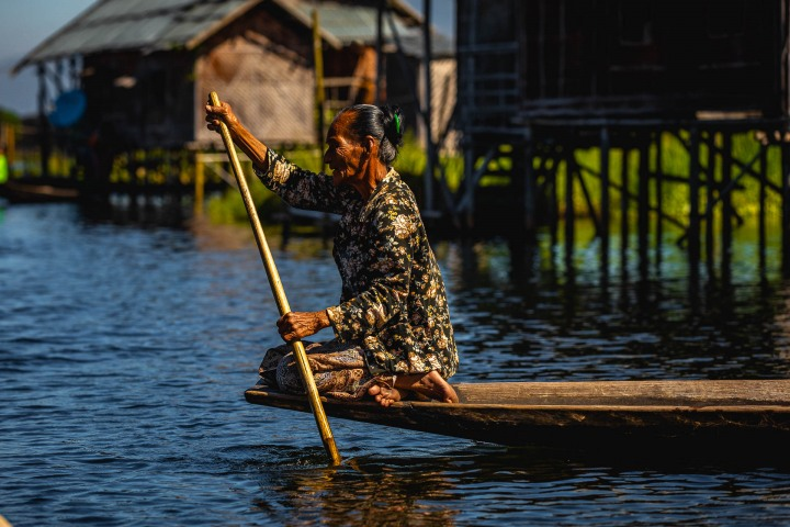 Asia, Burma, Burmese fishermen, Inle Lake, Myanmar, Travel
