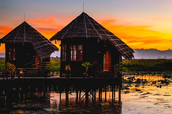 AGP Favorite, Asia, Burma, Inle Lake, Myanmar, Resort, Sunset, Travel